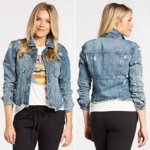 Blank NYC Reworked Denim Jacket Size Medium